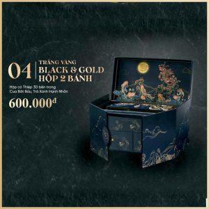 Trăng Vàng BLACK & GOLD Hộp 2 Bánh