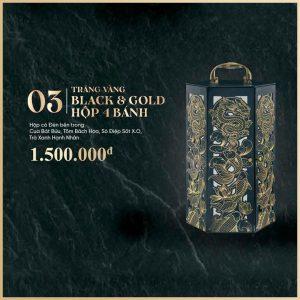 Trăng Vàng BLACK & GOLD Hộp 4 Bánh
