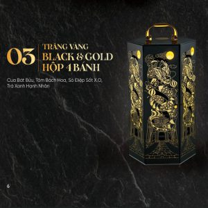 Trăng Vàng BLACK & GOLD Hộp 4 Bánh 2021