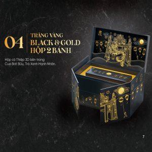 TRĂNG VÀNG BLACK & GOLD HỘP TRÒN 2 BÁNH 2021
